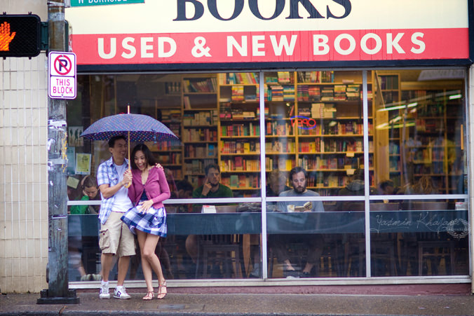 Yasmin Khajavi Photography, downtown engagement session, Powells Bookstore, coffee shop engagement photos, Portland Wedding Photographer, Destination Wedding Photographer