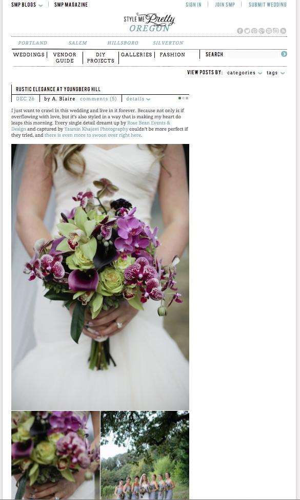 style me pretty wedding feature, portland wedding photographer