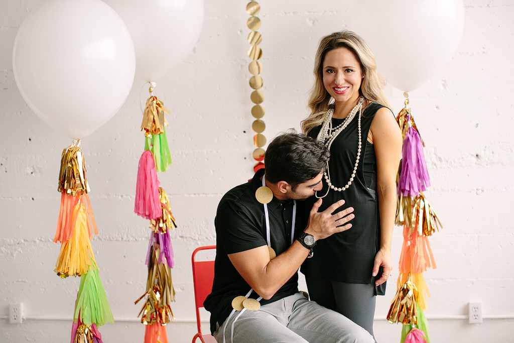 baby announcement, balloon tassels for baby announcement, pinterest style baby announcement, portland wedding photographer, portland family photographer