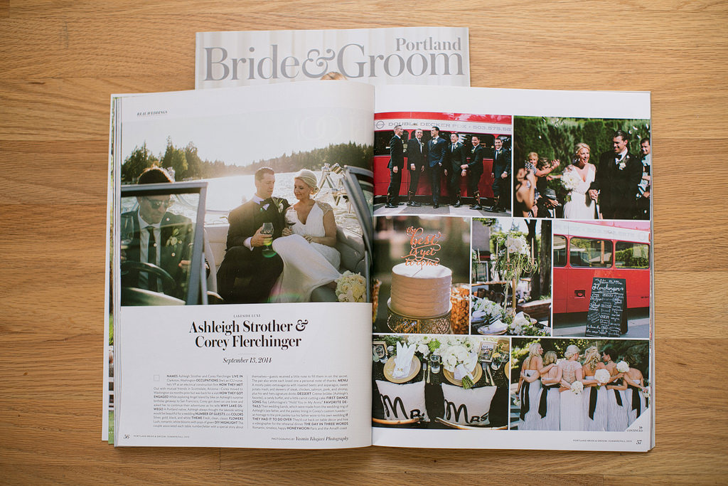 Published Wedding Photographer Portland Bride & Groom Magazine Feature