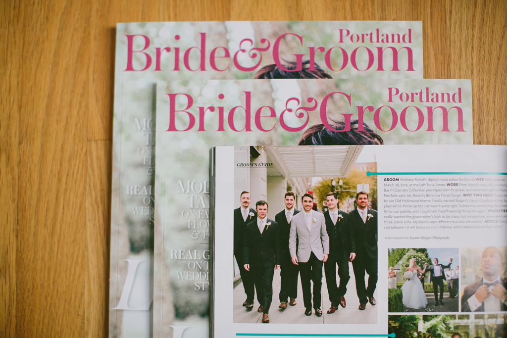 Portland Wedding Photographer, Published Portland Bride & Groom Magazine