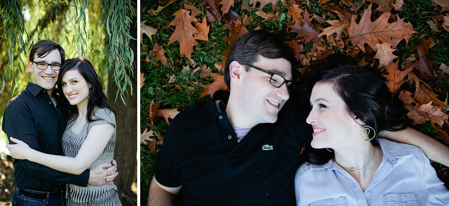 Cathedral Park Fall Engagement Session