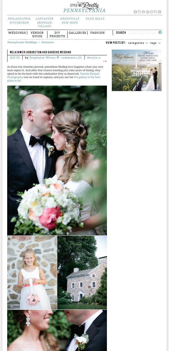 style me pretty wedding feature