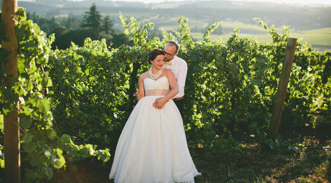 Willamette Valley Vineyards Wedding Photos