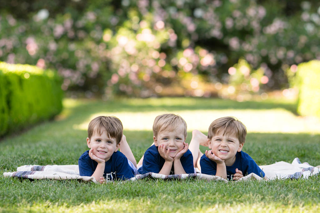 Triplets Family Photos, Portland Family Photographer