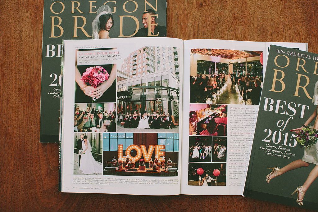 Oregon Bride Magazine Feature, Real Weddings, Portland Wedding Photographer